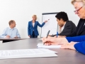 Entrepreneur Giving Presentation In Conference Room