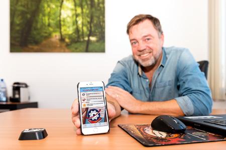 Bewonersportret Marco Beekhuizen - Holland App Store ondernemer bij Bedrijfsverzamelgebouw De Compagnie