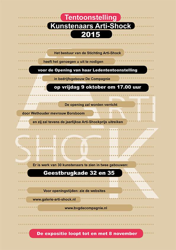 Uitnodiging ledententoonstelling Arti-Shock